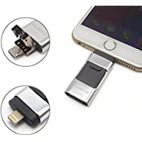 eMart Alta Capacidad iPhone USB Flash Drive 32 GB i-Flash U-Disco Tarjeta de Memoria USB Para Computadora, iPhone & iPad and Android Smart Phone Series - Plata