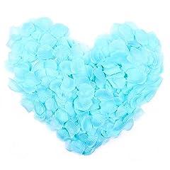 Idea Regalo - JZK® 1000 x Seta petali di rosa finti blu coriandoli biodegradabili stoffa decorazione tavolo per matrimonio addio al nubilato San Valentino nozze