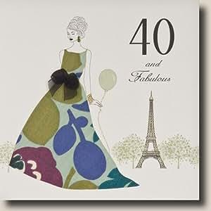 """ 40 And Fabulous "" Handmade Birthday Card - P24"