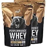 nu3 Performance Whey Protein in Polvere 2 KG | Polvere Proteica con Proteine del Siero del Latte Buona Solubilità | 74,3% Proteine - 22,3% BCAA - CS 115 Senza Aspartame | Gusto Cookie + Crema