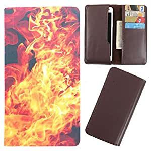 DooDa - For Karbonn Titanium Dazzle S201 PU Leather Designer Fashionable Fancy Case Cover Pouch With Card & Cash Slots & Smooth Inner Velvet