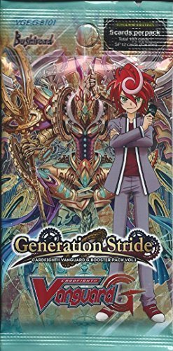 Cardfight 1 x Generation Stride g-bt01 English Booster Pack by yugioh (Generation Stride)