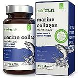 Best Peau alimentaire collagène Produits - Capsules de peptides de collagène marin, 400 mg Review