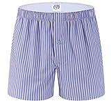 WSLCN Homme 100% Coton Boxers Caleçon Lâche Short Américains sous-Vêtement à Carreaux en Couleurs Divers Couleur 2 FR XL (Asie XXL)
