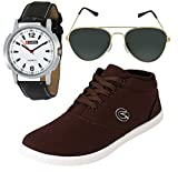#6: Globalite Combo Men's Casual Shoes GSC0305AMZ with Lotto Watch & Sunglass