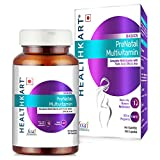 HealthKart Pre-Natal Multivitamin with Folic Acid, DHA & Iron, 90 capsules