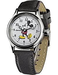 Disney Classic By Ingersoll Ladies Watch 25570 with White Mickey Mouse Dial and Grey Strap