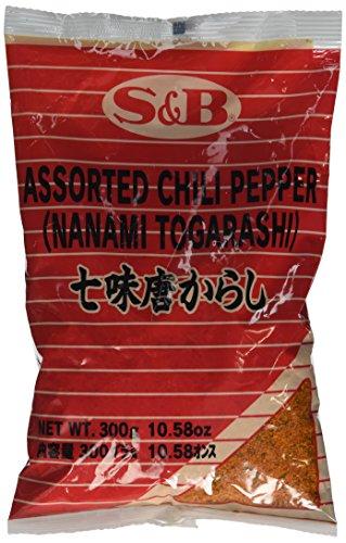 S&B 7 Pepper Spice Mix (Nanami / Schichimi Togarashi) - 1 Borsa, 10.58 Oz