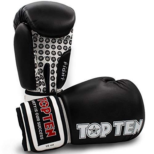 TOP Ten Boxhandschuhe, Fight, schwarz Größe 16 Oz