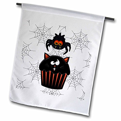 _ 5,1cm Cute Furry Halloween Spider stehlen ein Sweet Kürbis Cupcake