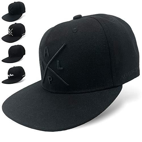 Alphachoice Snapback Cap | Basecap | Kappe Herren und Damen Schwarz (Alpha Cap Schwarz)