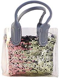 JIMPLEI Women's Transparent Bag With Soft Handle, Tote HandBags