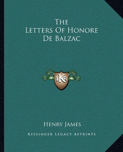 The Letters of Honore de Balzac
