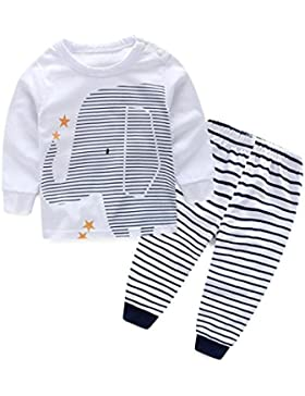 Vovotrade - bebé -niños- Manga larga de la camiseta + pantalones