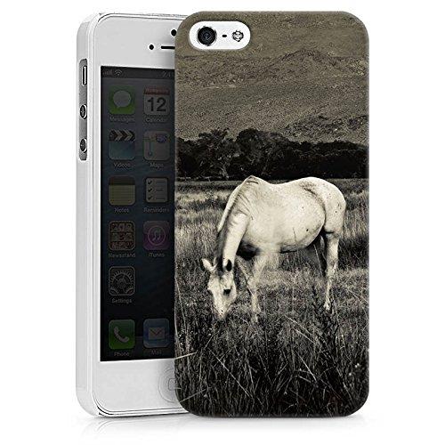 Apple iPhone X Silikon Hülle Case Schutzhülle Pferd Stute Hengst Hard Case weiß