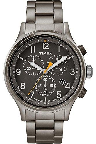 Timex Reloj Cronógrafo para Hombre de Cuarzo con Correa en Acero Inoxidable TW2R47700