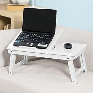 sobuy wood foldable notebook laptop table adjustable. Black Bedroom Furniture Sets. Home Design Ideas