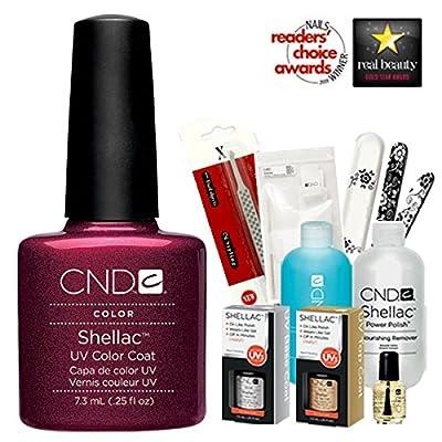 Cnd Shellac Usa Starter Kit - Masquerade Colour Starter Kit - Top & Base Coat + Essentials