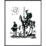 Pablo Picasso Don Quixote Kunstdruck (52x41 cm) gerahmt in: Rahmen schwarz