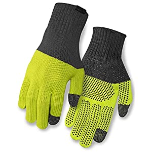Giro Merino Wool Gloves Grey/wild Lime 2019 Fahrradhandschuhe