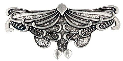 Art Nouveau Leaf Haarspange | Handgefertigte, metallene Haarspange mit importierten französischen Clips Von Oberon Design