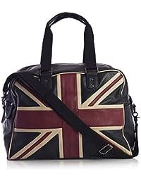 BHBS Bolso Unisex para Viaje en Imitación Piel con la Bandera del Reino Unido 44x33x22 cm (LxAxP)