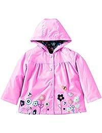 hibote Filles imperméable à l'eau et imperméable fleurs imperméable Outwear Jacket
