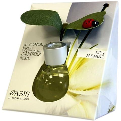 Natural & Senza alcool, 30 ml, diffusore di coccinella con foglie Scent: Lily Jasmine