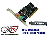Kalea-Informatique – Scheda audio PCI- Dolby 5.1 – equerres Low e High Profile fourniessta, Seven, 8, 8.1, 10 – Linux – DOS
