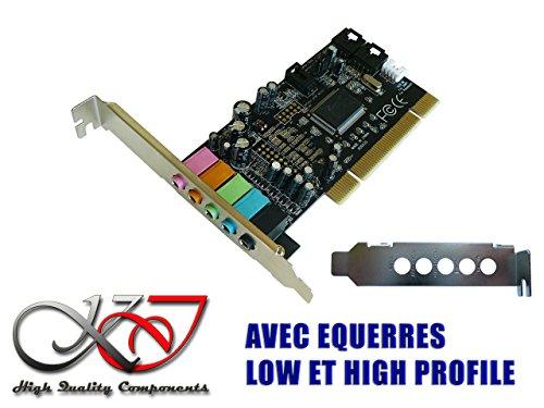 Kalea-Informatique Soundkarte PCI Dolby 5.1–kleiner und großer Winkel, Seven, 8, 8.1, 10–Linux–Rücken