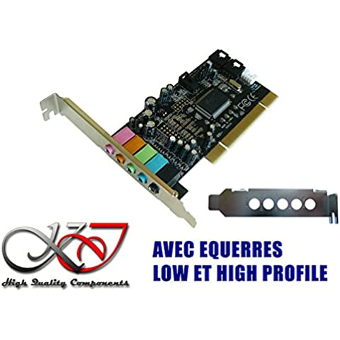 Kalea Informatique – Tarjeta de sonido PCI- Dolby 5.1 – equerres Low y High Profile fourniessta, Seven, 8, 8.1,