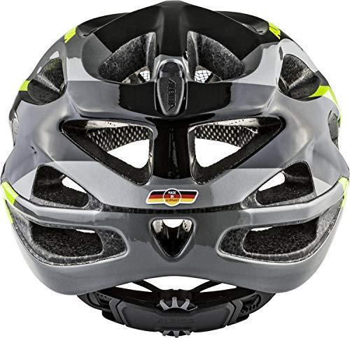 ALPINA Mythos 2.0 Rennrad-Helm, Black/Darksilver/Neon, 52-57