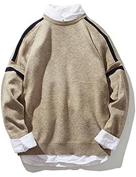 Autunno e Inverno tendenze moda del tessuto lavorato a maglia a uomini maglioni, kaki, M.