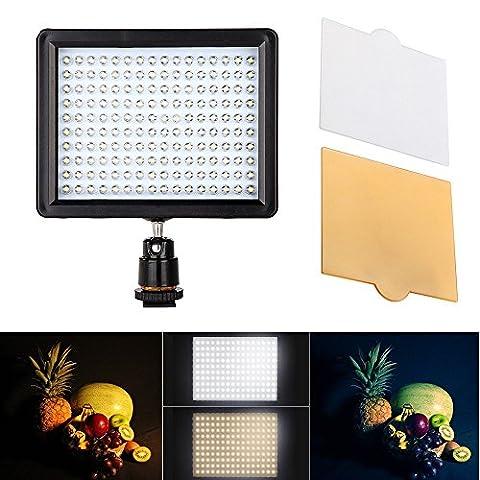 Andoer 160 LED Video Light Lamp Panel 12W 1280LM Dimmable für Canon Nikon Pentax DSLR Camera Video
