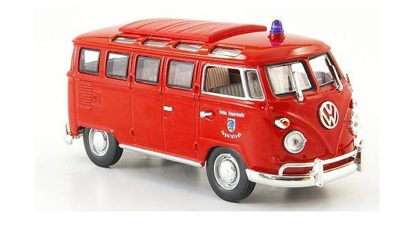 Vw T1 Samba Freiwillige Feuerwehr Ingolstadt Modellauto Fertigmodell Yat Ming 1 43 Spielzeug