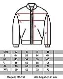 Mentex Herren Jacke Übergangs Bomber Polyester Zipper Schwarz Khaki S150 - 2