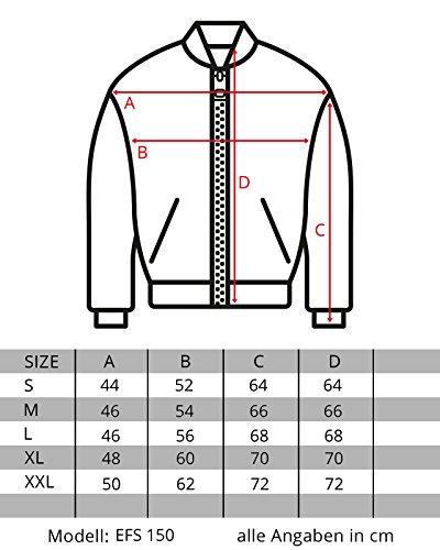 EightyFive Herren Jacke Übergangs Bomber Zipper Schwarz Khaki Camouflage EFS150 Khaki 2