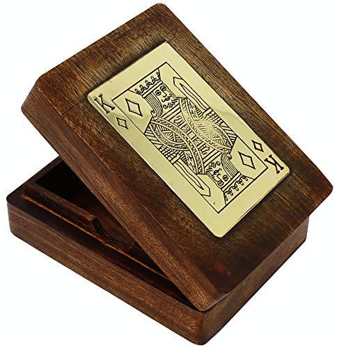 SKAVIJ Handgearbeiteter Holzhalter Für Spielkartenkiste