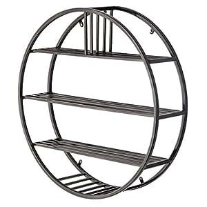 runde wandregal metall eisen f r bar wohnzimmer loft. Black Bedroom Furniture Sets. Home Design Ideas