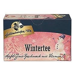 Goldmännchen Wintertee Apfel-Zimt-Vitamin C, Früchtetee, 20 einzeln versiegelte Teebeutel