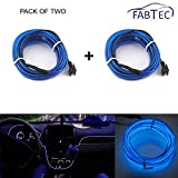 #6: Fabtec Blue El Wire 3 Mtr Neon Light LED Without Adapter (Pack Of 2) ForSkoda Laura
