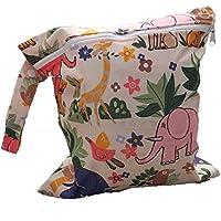 LAAT Bolsa de pañales para bebés Bolsa impermeable para pañales con cremallera Pañales bolsas