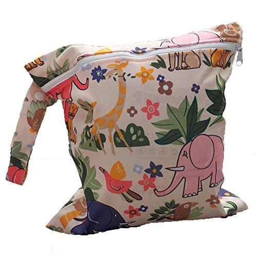 JUNGEN Windelbeutel Babytaschen Wiederverwendbare Wasserdichte Reißverschlusstasche