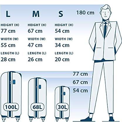 MasterGear-Hartschalenkoffer-aus-ABS-mit-Reiverschluss-Koffer-4-Rollen-360-Grad-Trolley-Reisekoffer-TSA-stapelbar-Gren-S-M-L