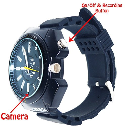 Gadget Advice Latest Ultra Hd Real 1280*960 Wrist Watch Camera With Night vision and Plug & Play Mode.