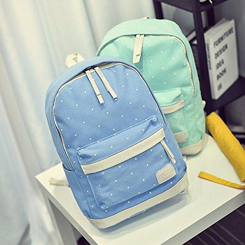 X&L Leinwand Schulter Handtasche Mode Mode Set 4 Freizeit Rucksäcke Green