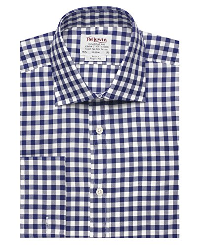 tmlewin-camisa-casual-cuadrados-clasico-manga-larga-para-hombre-azul-azul-marino
