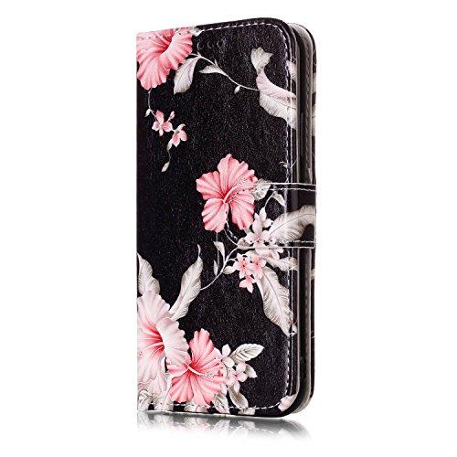 inShang Custodia per iPhone X 5.8 inch con design integrato Portafoglio, iPhoneX 5.8inch case cover con funzione di supporto. Azaleas