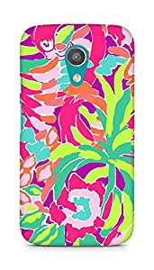 Amez designer printed 3d premium high quality back case cover for Motorola Moto G2 (Lilly Pulitzer Lulu)