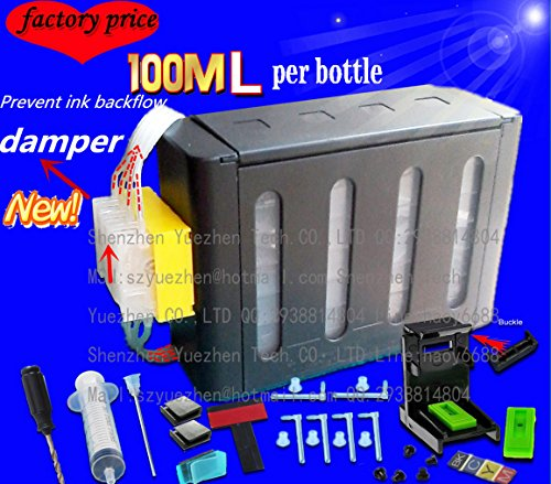 4 x 100ml kit CISS compatibile per HP 21 22